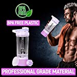 OxOFit – Strong as an Ox 100% Leakproof Smart Protein Shaker/Bottle for Gym with 2 Compartments, Carrying Loop and…