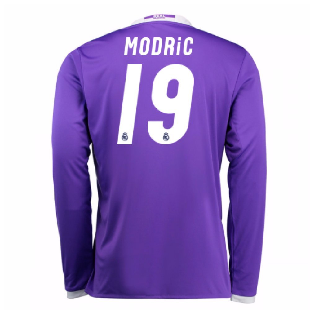 2016-17 Real Madrid Away Football Soccer T-Shirt Trikot (Luka Modric 19) - Kids