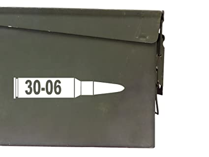 FGD 30-06 ammo box Label Set (bullet DECALS) Four decals included (Labels  Only Ammo Can NOT Included)