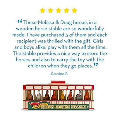 Melissa & Doug Take-Along Show-Horse Stable: Melissa & Doug: Toys & Games