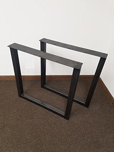 Economy Style - Heavy Duty Square Style Metal Table Legs - Black Steel Table Base