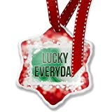 Christmas Ornament Lucky Everyday St. Patrick's Day Large Shamrock, red - Neonblond