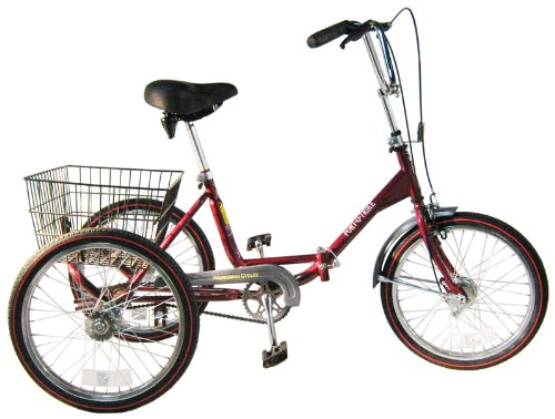 Why Choose Worksman Port-O-Trike Three Speed Adult Tricycle Cranberry