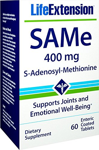 (Life Extension Same S-Adenosyl-Methionine 400 Mg, 60 Enteric Coated Tablets)