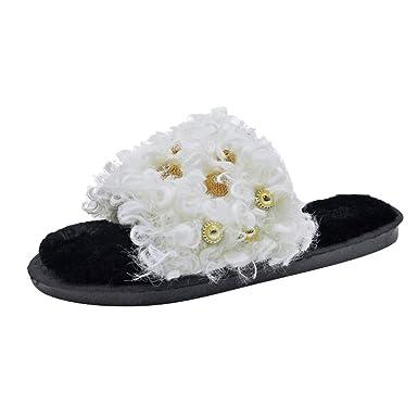 Zapatos de Mujer, ASHOP Casual Planos Loafers Mocasines de Puntera otoño Invierno Botas de para Mujer cómodas de Piel Cruzada cálida Slippers: Amazon.es: ...