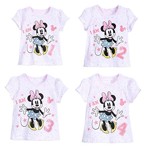 Minnie Mouse Party Supply (Disney Minnie Mouse ''I Am 2'' Birthday Tee for Girls Size 2)
