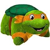 Pillow Pets Nickelodeon Teenage Mutant Ninja Turtles Michelangelo Plush Toy Plush, Green/Orange, One Size