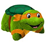 Pillow Pets Nickelodeon Teenage Mutant Ninja Turtles Stuffed Animal Plush Toy 16'', Michelangelo