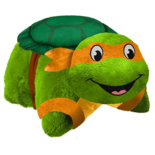 Pillow Pets Nickelodeon Teenage Mutant Ninja Turtles Stuffed Animal Plush Toy 16'', Michelangelo by Nickelodeon