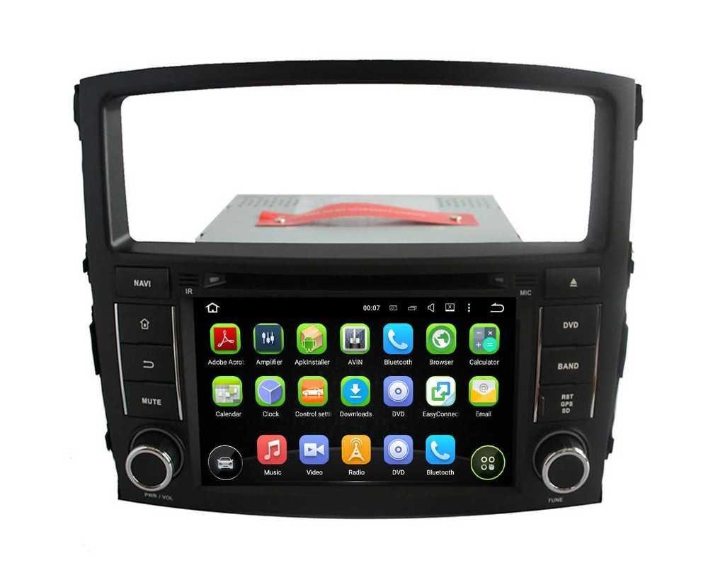 2 Din 7 pouces Android 5.1.1 Lollipop stéréo de voiture pour Mitsubishi Pajero 2006 2007 2008 2009 2010 2011 2012 2013,DAB+ radio 1024x600 écran tactile capacitif avec Quad Core Cortex A9 1.6G CPU 16G fla