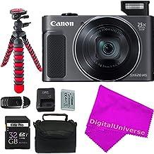[Patrocinado] Canon PowerShot SX620HS cámara digital (Negro) + digitaluniverse accesorios profesionales paquete.