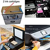 HP Photo Printer All-in-One Wireless Envy 7120 with Scanner & Copier + Ink Cartridges & Optional Instant Ink Subscription + USB Cable, Sample Photo Paper Pack & HeroFiber