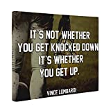 Vince Lombardi Motivational Quote CANVAS Wall Art Home Décor