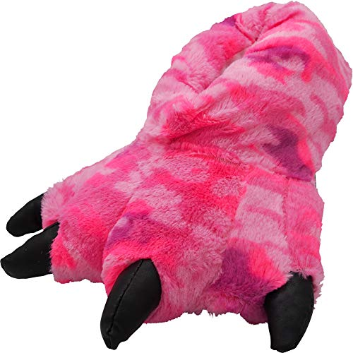 NORTY - Womens Pink Camo Claw Animal Slippers, Pink 40754-Large
