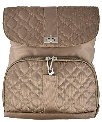 Travelon Anti-Theft Flap-Front Cross-body Bag (One Size, Khaki) -