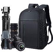 Estarer Waterproof DSLR Camera Laptop Backpack with Rain Cover,Tripod Holder,Large Professional SLR Photo Rucksack for…