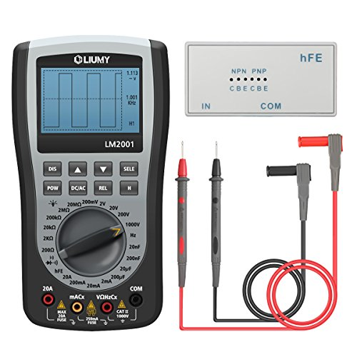 Oscilloscope Multimeter, LIUMY Professional Handheld LED Scopemeter Oscilloscope Multimeter with 200ksps A/D Automatic Waveform Capture Function, DC/AC Voltage /Current, Resistance Test with Backlight