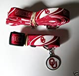 Hunter University of Oklahoma Pet Combo Set (Collar, Lead, ID Tag), X-Small