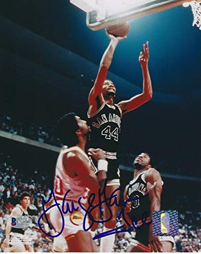 George The Iceman Gervin Signed San Antonio Spurs 8x10 Photo with - Beckett - George Spurs Gervin