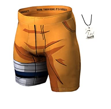 91ae0bd4c5 JarilnMo Mens Compression MMA Shorts Dragon Ball z Naruto Boys Trunks  Swimwear with Free Necklace,