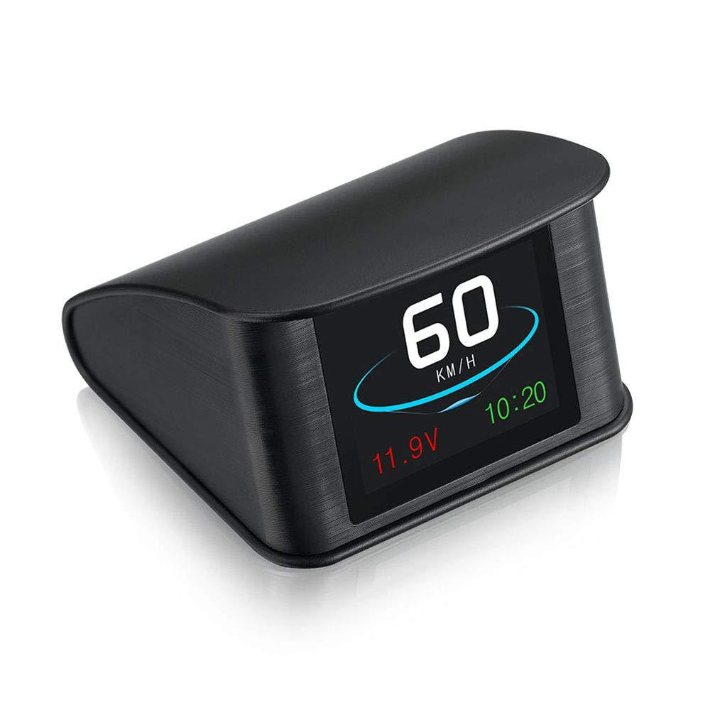 HUD Compatible All Cars,BUENNUS T600 Car Head Up Display Digital GPS Speedometer Smart Automobile Speed Monitor Multiple Show Voltage Driving Direction/Mileage Altitude Brake Test SpeedUp Test