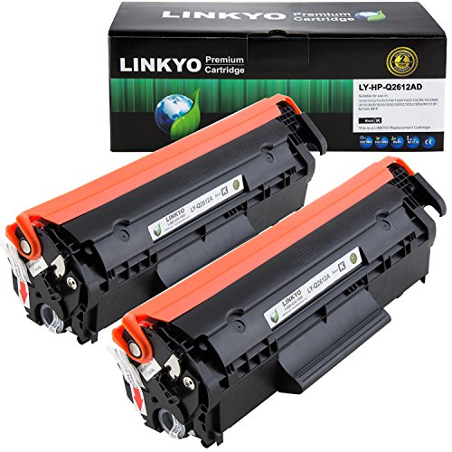(LINKYO Compatible Toner Cartridge Replacement for HP 12A Q2612A (Black,)