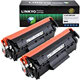 LINKYO Compatible Toner Cartridge Replacement for HP 12A Q2612A (Black, 2-Pack)