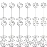 Hestya 36 Pieces Sliver Table Number Holders Table Card Photo Menu Name Holder, 24 Pieces Stand Table Holder and 12 Pieces Ring Table Holder