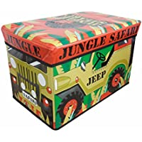 Childrens/Girls Jeep Design Folding Storage Chest (One Size) (Jeep)