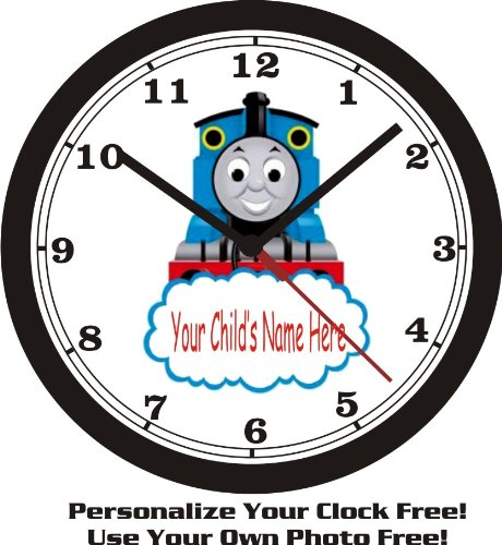 THOMAS THE TRAIN WALL CLOCK-ADD CHILD'S NAME FREE! by Muscle Car Memories