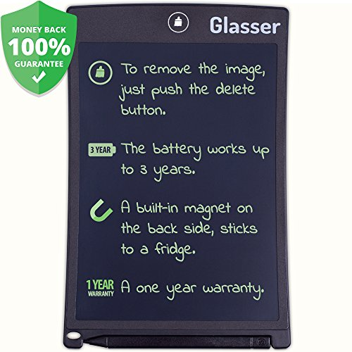 Writing Tablet 8.5 Inch Digital Drawing and Graphics Paperless Notepad - eWriter - LCD Writing Board Comes in a Black Frame