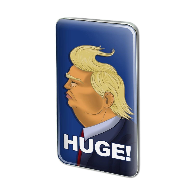 Huge! Trump Caricature Hair Funny Rectangle Lapel Pin Tie Tack