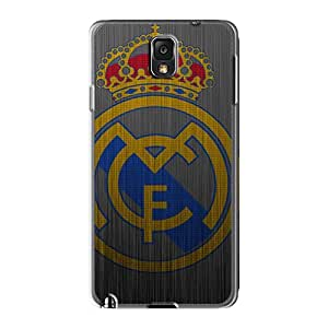 Samsung Galaxy Note 3 AaU14364LGUU Custom Fashion Real Madrid Metal Logo Pattern Shock Absorption Hard Phone Cases -RandileeStewart