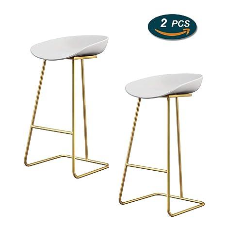 Sgabelli moderni con gambe in metallo, sedile in plastica ...