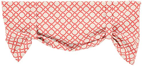 Tie Lined Valance Up - Ellis Curtain Kent Crossing 50-by-21 Inch Lined Tie-Up Valance, Clay