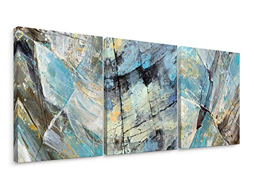 Niwo Art-Marble Abstract Combo D, Marble Series, Canvas Wall Art Decor,Framed Ready to Hang