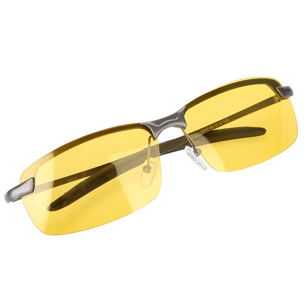 Wbestexercises Night Driving Glasses Anti-Glare Safety Glasses Polarized Sunglasses, Anti-Glare HD Night Vision Yellow Lens for Men Women Driving Cycling Riding Fishing by Wbestexercises
