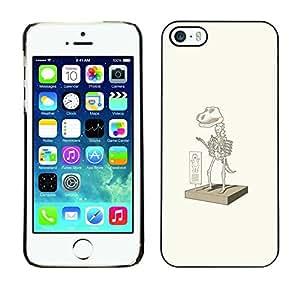 Caucho caso de Shell duro de la cubierta de accesorios de protección BY RAYDREAMMM - iPhone 5 / 5S - Traje dinosaurio Elm0 divertido