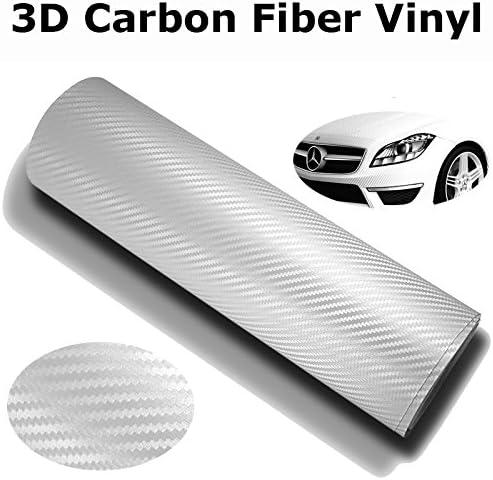 XPO White Carbon Fiber 5/' x 5/' Vvivid Vinyl Film Wrap Roll Sheet Decal Sticker
