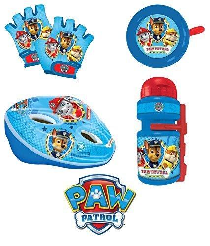 Kit   Satz Pfote-Patrouille Kinder   Helm + Fahrradklingel + Handschuhe + Wasserflasche Fahrrad