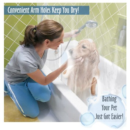 StayDri Pet Wash Shower Curtain