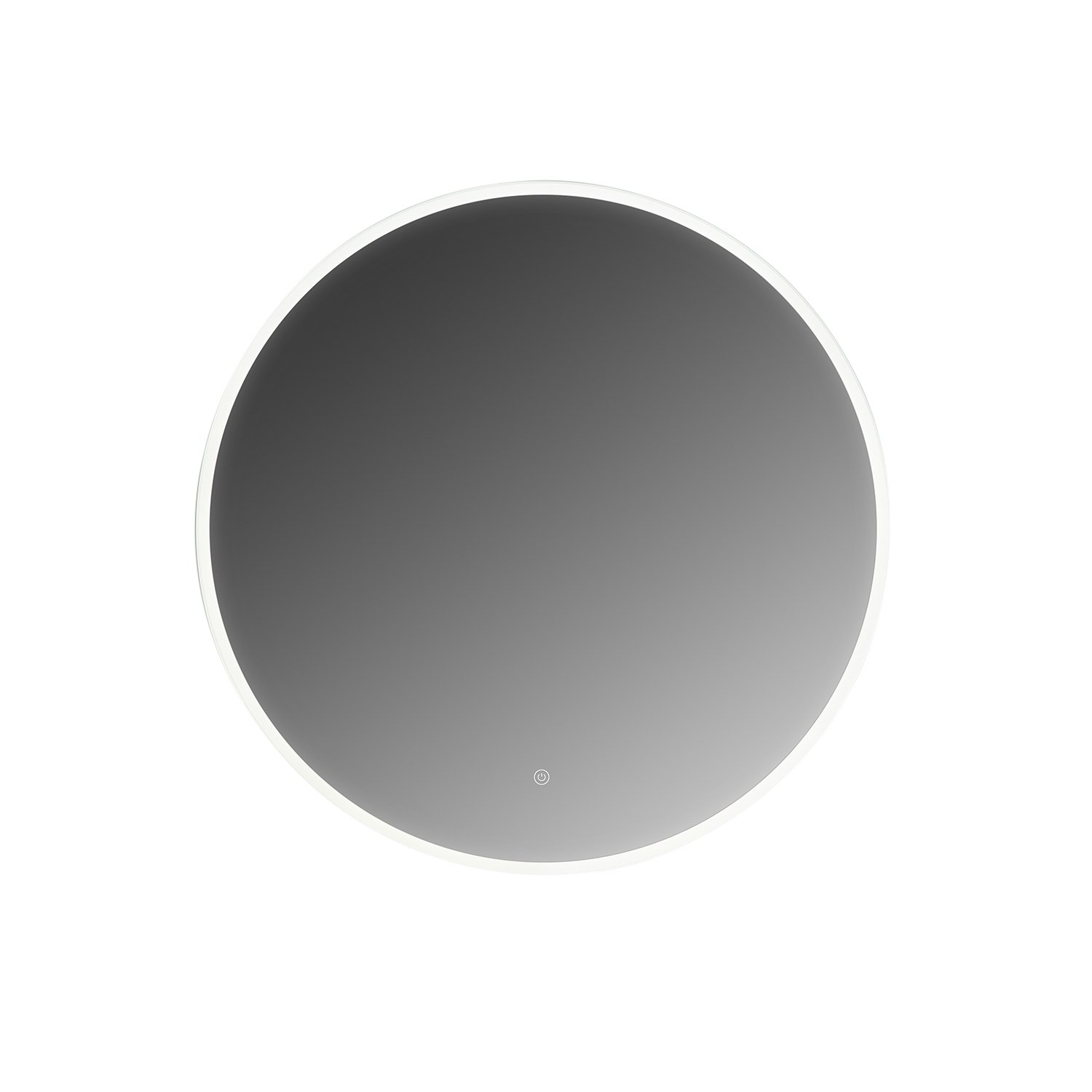 MAYKKE Olivia 32'' Round LED Mirror with Defogger, Wall Mounted Lighted Bathroom Vanity Mirror, Frameless Mirror for Wall Decor, Mirror with LED Lighting Border UL Certified, LMA1053201 by Maykke