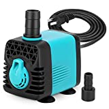 KEDSUM 130GPH Small Size Miniature Water Pump for Tank Pond Aquarium, Fish Tank Powerhead for Water Fountain Hydroponic, 10W