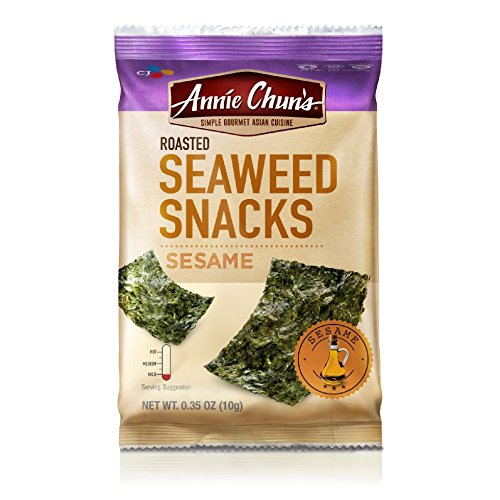 Annie Chun's Roasted Seaweed Snacks, Sesame, 0.35 Ounce (...
