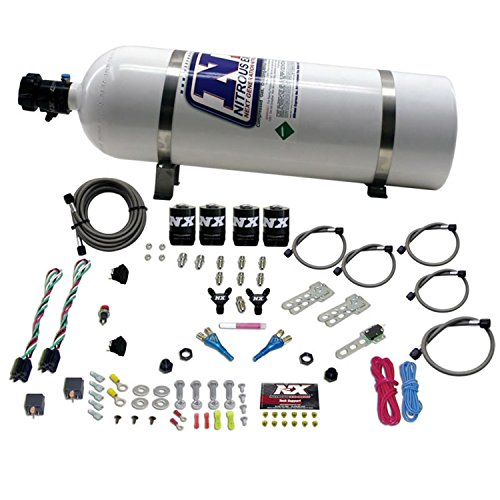 Nitrous Legend - Nitrous Express 20927-15 35-75 HP x 2 Sport Compact EFI Dual Stage System with 15 lbs. Bottle