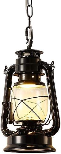 INJUICY Kerosene Pendant Lights, Vintage Metal Glass Oil Ceiling Lamp for Bedroom Living, Dining Room, Cafe Bar, Hallway Decor