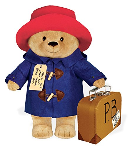 Paddington Bear stuffed animal with a 40 cm suitcase by yOttOy