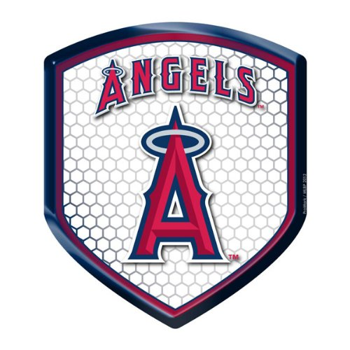MLB Los Angeles Angels of Anaheim Car Truck SUV Motorcycle Bicycle Mailbox Trunk 3D Emblem Color Shield ()