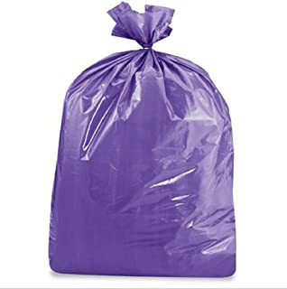 product image for USA-Made Colorful Trash Bags (10, PURPLE 50 GALLONS)