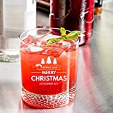 Personalized Christmas Libbey Rocks/Old Fashioned Glass with Dimpled Base